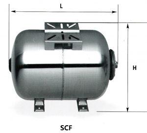 scheme SCF 300x272 - Гидроаккумулятор 50 л горизонтальный НЕРЖАВЕЮЩАЯ СТАЛЬ т.м. LadAna (фланец из нержавеющей стали)